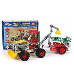 Конструктор металлический «Трактор з причепом ТехноК»,  4876