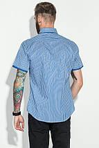 Рубашка мужская в полоску, с двойным воротником 50P2032-1 (Синий), фото 2