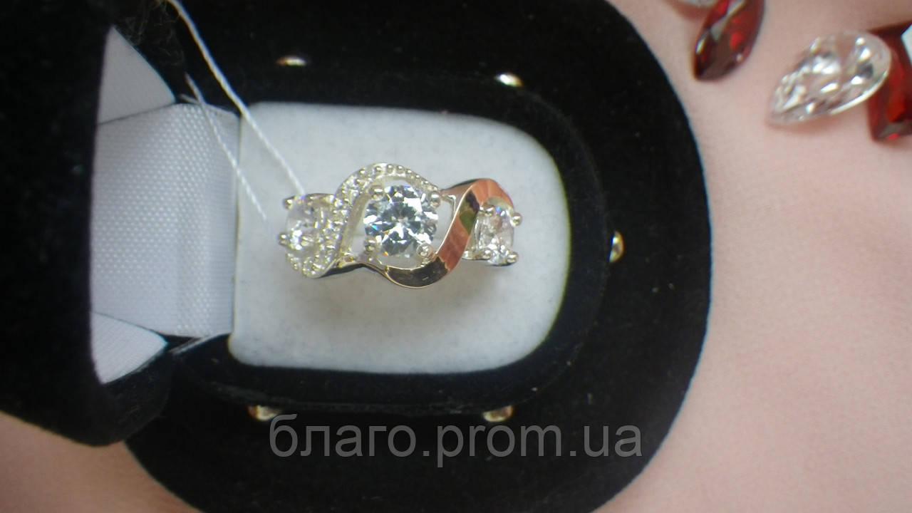 Кольцо из серебра с золотом Дева