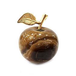 Яблоко из натурального (коричневого) оникса 4.5 см
