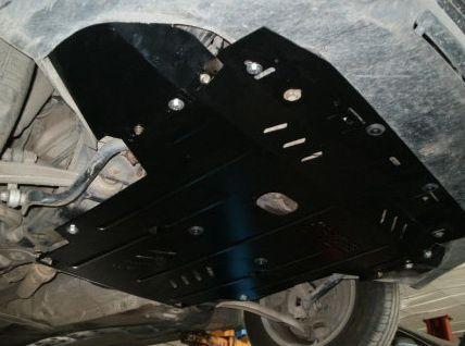 Защита радиатора, двигателя и КПП на Митсубиси Аутлендер 2 ХЛ (Mitsubishi Outlander II XL) 2006-2012 г
