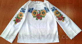 Пошита блузка дитяча для вишивки ШВД-04 (Княгиня Ольга)