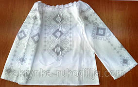 Пошита блузка дитяча для вишивки ШВД-05 (Княгиня Ольга)