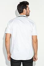 Рубашка мужская с потайной застежкой 50P294 (Белый), фото 3