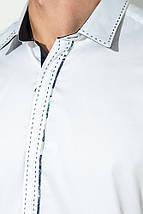 Рубашка мужская с потайной застежкой 50P294 (Белый), фото 2