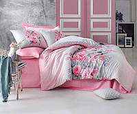 Двуспальное постельное бельё 200х220 Cotton box Ранфорс FIONA PEMBE