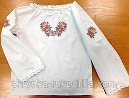 Пошита блузка дитяча для вишивки ШВД-07 (Княгиня Ольга)