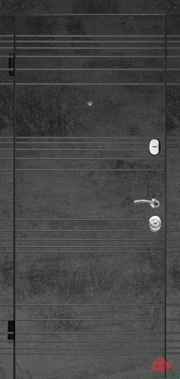 Входные двери Некст темный бетон