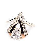 """Серебряное кольцо с золотыми пластинами """"Г"""", фото 1"""