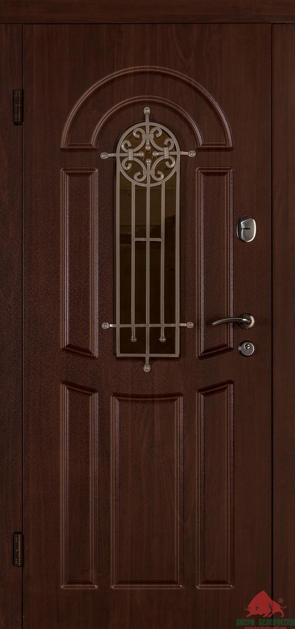 Входные двери Флора орех коньяк