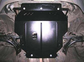 Защита картера (двигателя) и Коробки передач на Ниссан Микра К13 (Nissan Micra K13) 2010-2016 г (металлическая/закладные)