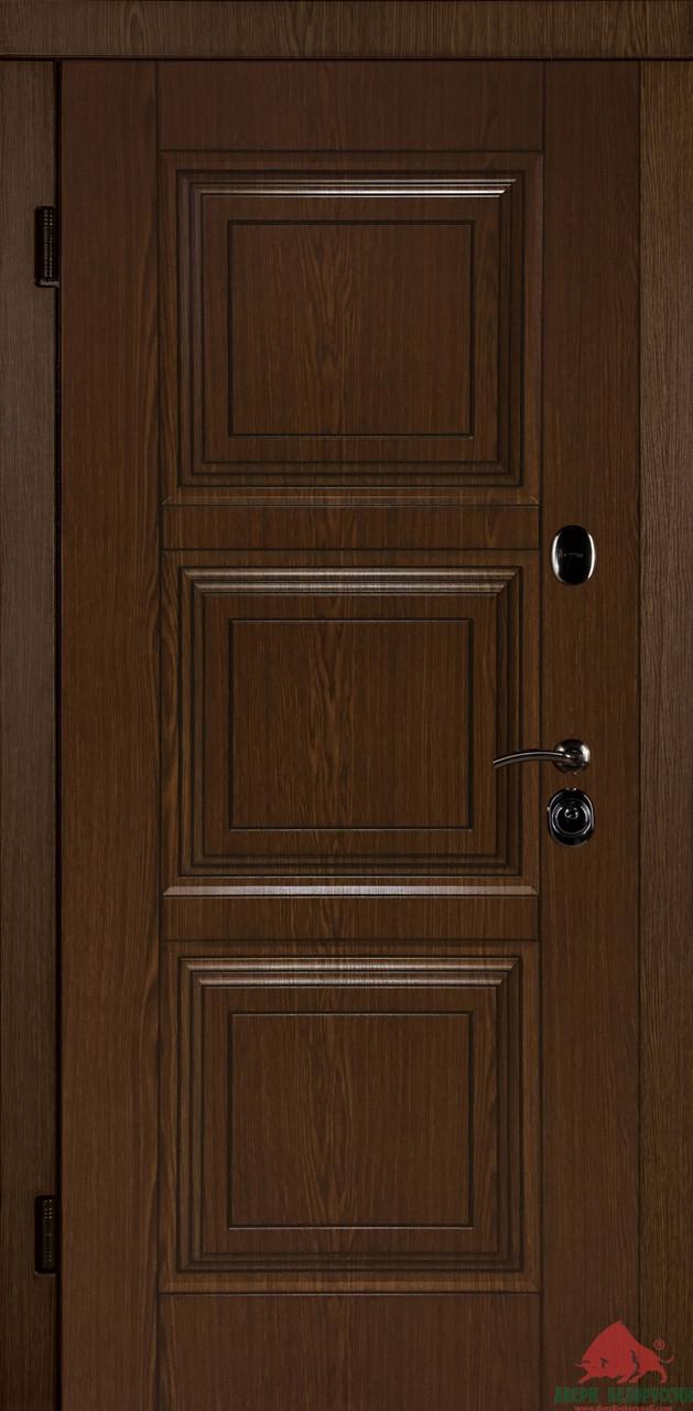 Входные двери Трио 3Д дуб
