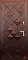 Входные двери Ромб-В софттач винный