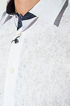 Рубашка мужская светлая с принтом 50P2239-2 (Белый), фото 2