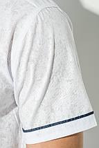 Рубашка мужская светлая с принтом 50P2239-2 (Белый), фото 3
