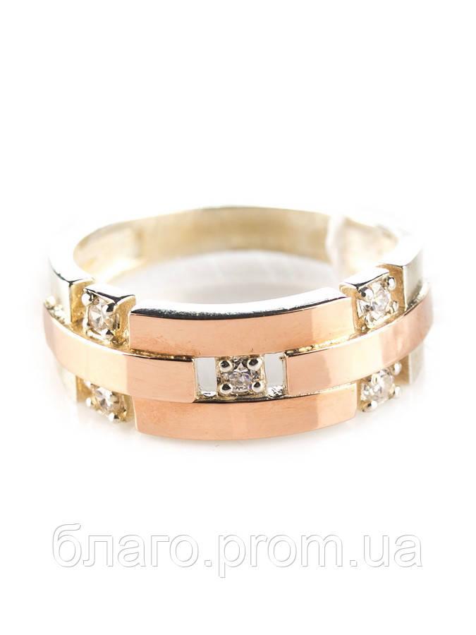 Серебряное кольцо с золотом Шейх