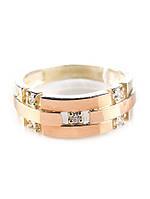 Серебряное кольцо с золотом Шейх, фото 1