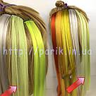 🍈 Бледный шартрез, цветные пряди волос на заколках клипсах 🍈, фото 4