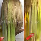 🍈 Бледный шартрез, цветные пряди волос на заколках клипсах 🍈, фото 5