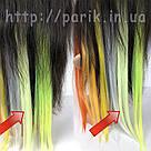 🍈 Бледный шартрез, цветные пряди волос на заколках клипсах 🍈, фото 6