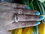 """Серебряное кольцо с золотом Вальс""""Г"""", фото 2"""