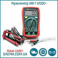 Мультиметр цифровой UNI-T UT33C+ в защитном чехле, подсветка дисплея, фото 1