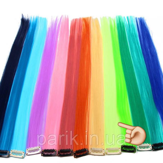 🍈 Фисташковый шартрез, цветные пряди волос на заколках клипсах 🍈