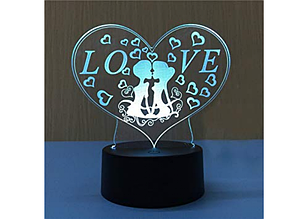 "3D Светильник ""Love"" - Ночник 25см"