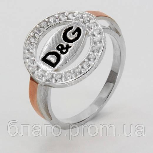 Серебряное кольцо с золотом Дольче Габбана / Dolce & Gabbana