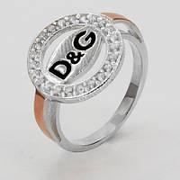Серебряное кольцо с золотом Дольче Габбана / Dolce & Gabbana, фото 1