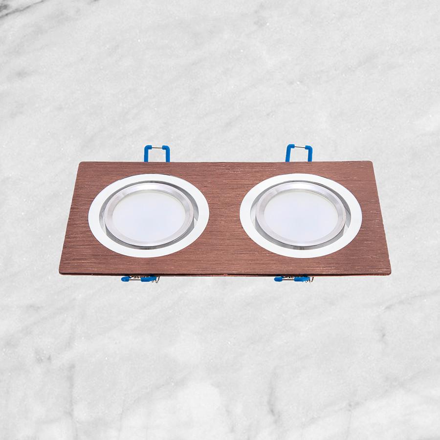 Точечный врезной светильник (47-1235-2 кофейный)