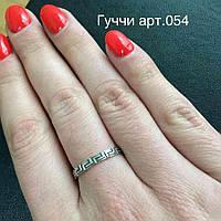 Серебряное кольцо Версаче с чернением без камней, фото 1