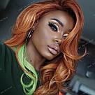 🍈 Цветные пряди волос на заколках клипсах бледно лимонные 🍈, фото 9