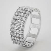 Серебряное кольцо Ителия  камнями