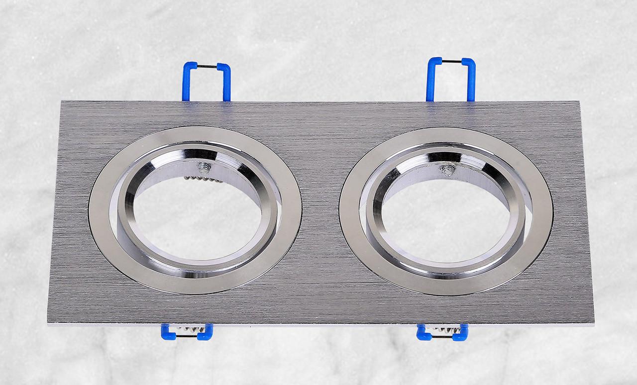 Точечный врезной светильник (47-1235-2 серый)
