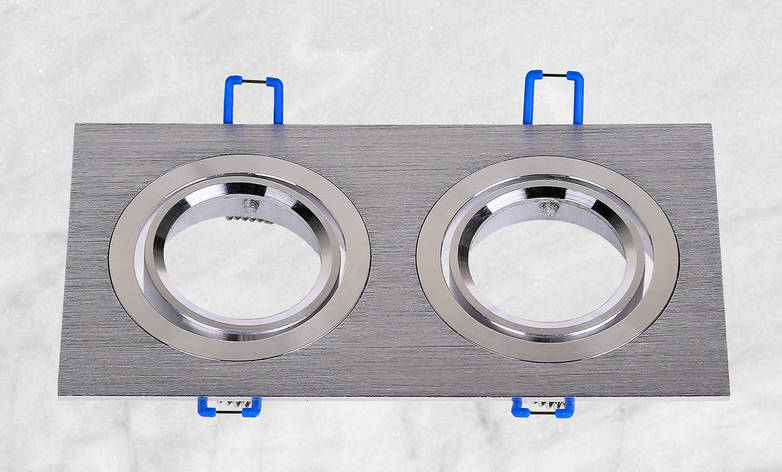 Точечный врезной светильник (47-1235-2 серый), фото 2
