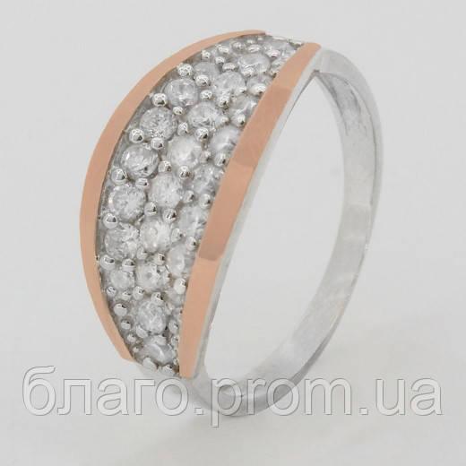 Серебряное кольцо с золотом Мариз