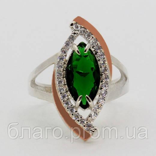Серебряное кольцо с золотом Маркиза