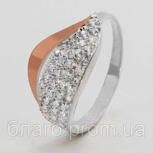Серебряное кольцо с золотом Мила