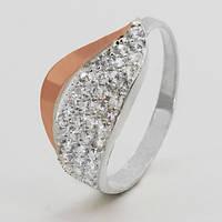 Серебряное кольцо с золотом Мила, фото 1