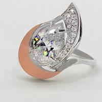 Серебряное кольцо с золотом Милена