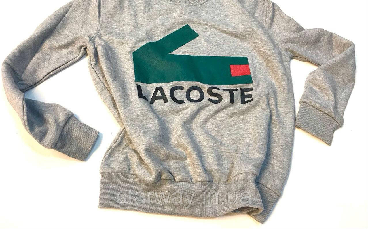 Світшот Lacoste логотип принт   стильна Кофта