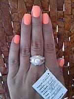 Кольцо серебро Вивьен с жемчугом