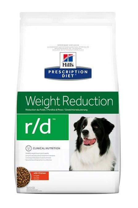 Hill's Prescription Diet r/d Weight Reduction корм для собак курицей 12 кг