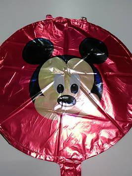 Гелиевый фольгированый шарик с рисунком Микки Маус