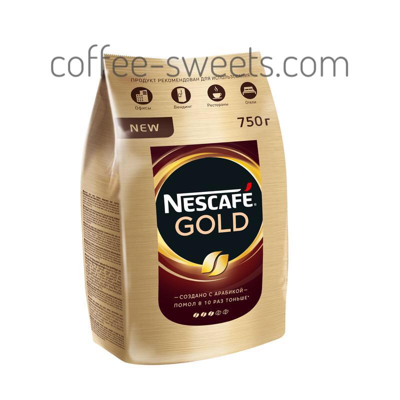 Кофе растворимый Nescafe Gold (пакет) 750 г