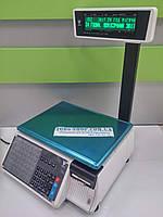 Весы с чекопечатью DIGI SM 100 P CS Plus двухстрочный индикатор, кассетный принтер (RS232, Ethernet)