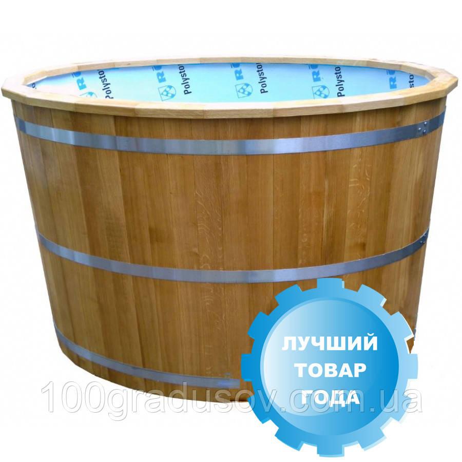 Бочка купель SaunaLux (Ø120 см, 1000 л)
