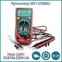 Мультиметр цифровой UNI-T UT890C+ в защитном чехле, подсветка дисплея, фото 1