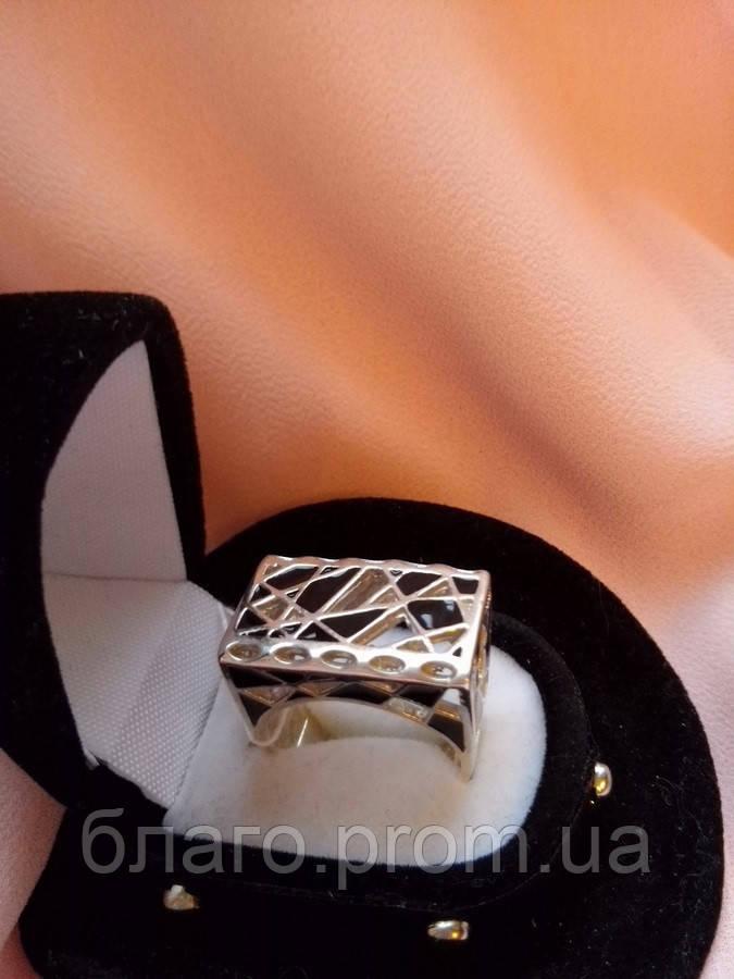 Кольцо серебряное Джулия с эмалью